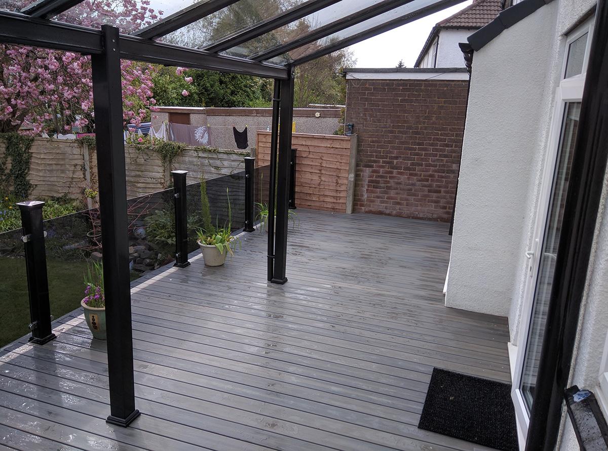 Modern Steel Veranda Installer In Leigh Lancashire