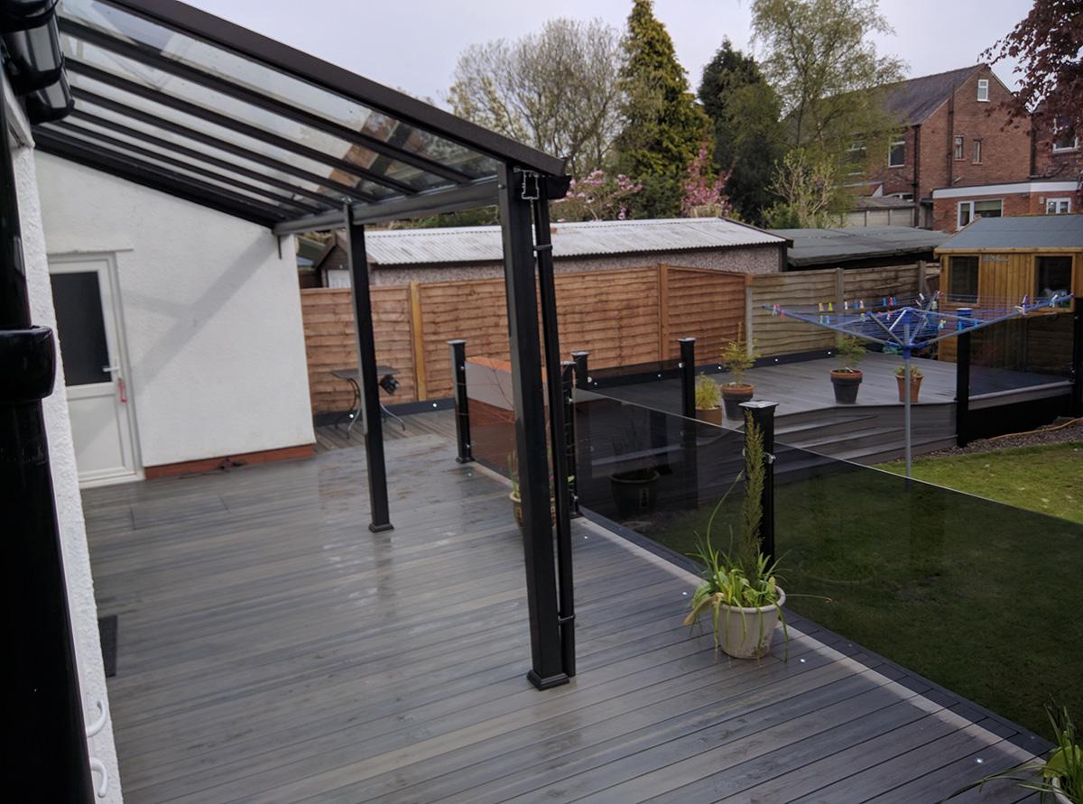 Modern steel veranda installer in Leigh, Lancashire, Greater Manchester, North West | P. Clark ...